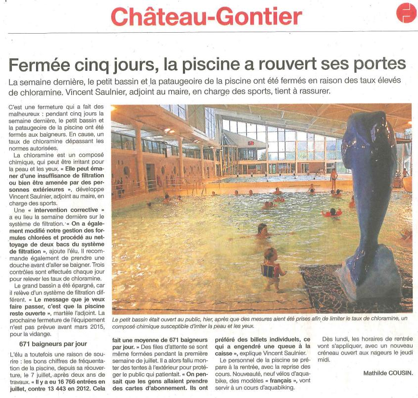 Cdos mayenne articles clubs - Piscine chateau gontier ...